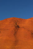 Ocher hill and blue sky. Royalty Free Stock Photos