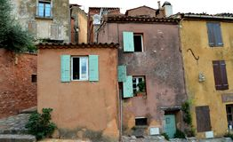 Ocher houses, Roussillon Stock Image