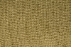 Ocher knitted Background Pattern Royalty Free Stock Photography