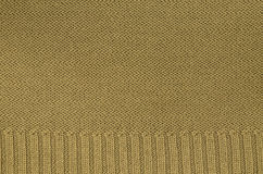 Ocher knitted Background Pattern Royalty Free Stock Image