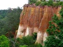 Ocher mine in Roussillon Stock Photos