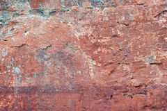 Ocher on the old wall Royalty Free Stock Image