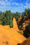 The ocher outcrops  in Roussillon Stock Image