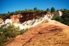 Ocher quarriesocher quarries Royalty Free Stock Photography