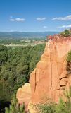 Ocher Quarries,Roussillon,Provence Royalty Free Stock Photography