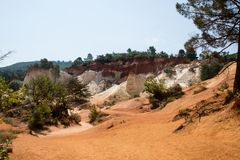 Ocher quarry, Roussillon, Provence, France Stock Images