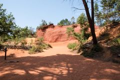 Ocher quarry, Roussillon, Provence, France Royalty Free Stock Photo