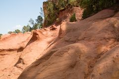 Ocher quarry, Roussillon, Provence, France Royalty Free Stock Images