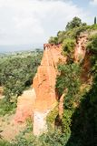 Ocher quarry, Roussillon, Provence, France Stock Photos