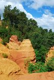 Ocher in Roussillon Stock Photography
