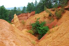 Ocher in Roussillon Royalty Free Stock Photo