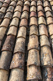 Ocher tile on the roof Royalty Free Stock Photography