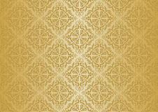 Ocher vintage wallpaper Royalty Free Stock Images