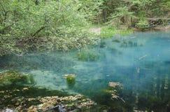 "Ochiul Beiului湖, Cheile Nerei †""BeuÅŸniÅ£a国家公园,罗马尼亚 免版税库存图片"