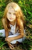 Ocho años de la muchacha Fotos de archivo libres de regalías