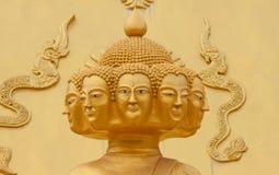 Ocho cabeza Buda Fotografía de archivo libre de regalías