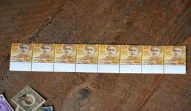 Ocho nuevos sellos Foto de archivo libre de regalías