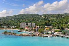 Ocho Rios in Jamaica. Aereal view of Ocho Rios, Jamaica in the Caribbean royalty free stock photo