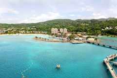 Ocho Rios in Jamaica. During bright day stock photo