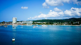 Ocho Rios, Jamaica. View of the beach in Ocho Rios Jamaica royalty free stock photos