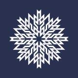 Ocho señalaron el modelo circular en las líneas estilo de intersección orientales Mandala blanca en forma de los copos de nieve Fotos de archivo libres de regalías