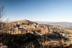 Ochodzita από το λόφο Koczy Zamek στα βουνά Beskid Slaski στην Πολωνία Στοκ εικόνα με δικαίωμα ελεύθερης χρήσης
