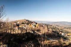 Ochodzita dalla collina di Koczy Zamek in montagne di Beskid Slaski in Polonia Immagine Stock Libera da Diritti