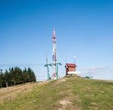 Ochodzita wzgórze nad Koniakow wioska w Beskid Slaski górach Obrazy Stock