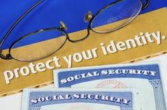 Ochrania osobistą tożsamość Obraz Royalty Free