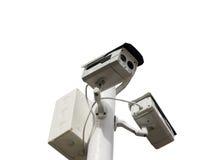 Ochrania Twój własność Z CCTV kamerą Zdjęcia Royalty Free