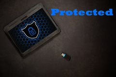 Ochraniająca android pastylka obrazy stock