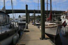 Ochraniający łódź doki zdjęcie royalty free