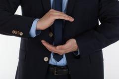 Ochraniający i opróżnia męskie ręki Zdjęcie Royalty Free
