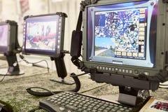 Ochraniający komputery dla wojskowego zdjęcia royalty free