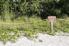 Ochraniający przyrody siedliska znak zdjęcie royalty free