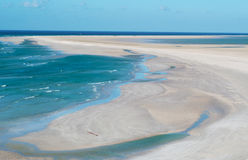 Ochraniający teren Qalansia plaża laguna, Socotra, Jemen obraz royalty free