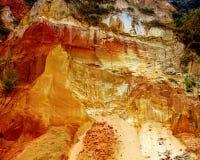 Ochre Cliffs, horizontal Royalty Free Stock Photos