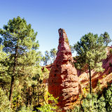 Ochre cliffs near Roussillon, Provence, France Stock Photography