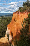 Ochre guarry in Roussillon, France. Stock Photography
