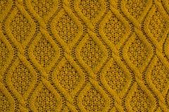 Ochre Knit Texture Royalty Free Stock Photo
