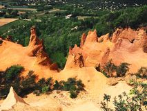 Ochre mine. In the Colorado Provençal. France, Provence region Stock Photography