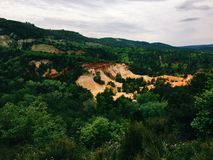Ochre mine Royalty Free Stock Images