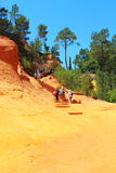 Ochre path near French village of Roussillon Stock Photo