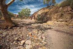 Ochre Pit. An image of colorful The Ochre Pit, West Macdonnell Ranges, Northern Territories, Australia - popular tourist destination Royalty Free Stock Photos