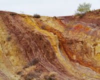 Ochre pits Royalty Free Stock Photography