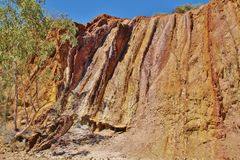 Ochre Pits. Northern territory. The Ochre Pits are approximately 100 kilometres west of Alice Springs along the Larapinta Trail Stock Image