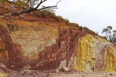 Ochre Pits in the West MacDonnell Ranges Stock Image