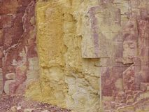 Ochre Pits in the West MacDonnell Ranges Royalty Free Stock Photography