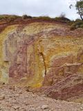 Ochre Pits in the West MacDonnell Ranges Stock Photography