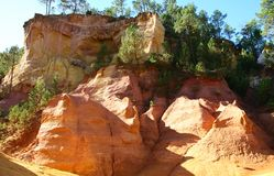 Ochre quarry. Near Roussilion in Provence France Royalty Free Stock Photo